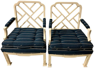 One Kings Lane Vintage E. Lambeth Chippendale-Style Chairs - Set of 2 - Von Meyer Ltd.