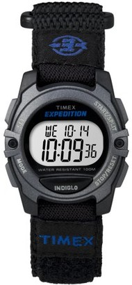 Timex Unisex Expedition Digital CAT Mid-Size Watch, Black Fast Wrap Velcro Strap