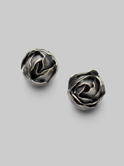 Bottega Veneta Rose Stud Earrings