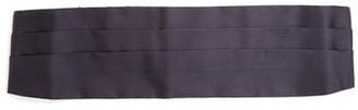 Prada Pleated Silk Cummerbund - Mens - Navy
