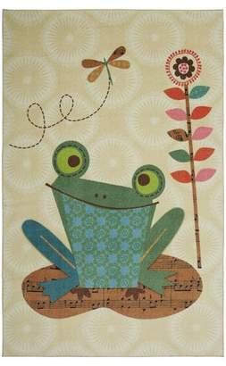 Harriet Bee Johansson Frog Cream/Basil Area Rug Rug