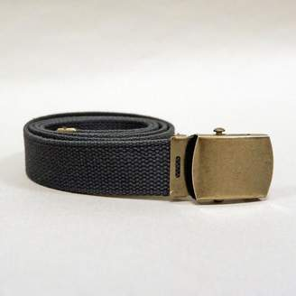 Blade + Blue Dark Gray Cotton Web Military Belt