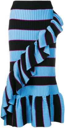 Kenzo high-waisted striped skirt