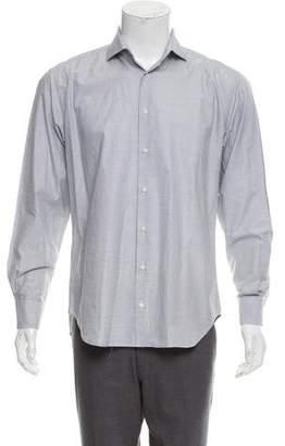 Barneys New York Barney's New York Horizontal Striped Button-Up Shirt