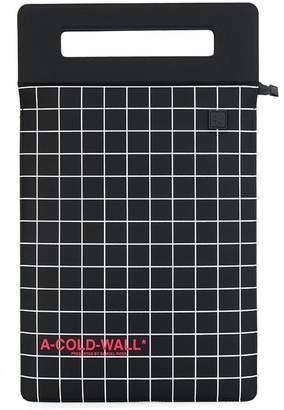 A-Cold-Wall* grid-print tablet bag