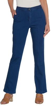 Linea By Louis Dell'olio by Louis Dell'Olio Regular Stretch Denim Boot Leg Pants