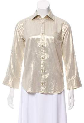 Alice + Olivia Long Sleeve Button-Up Blouse