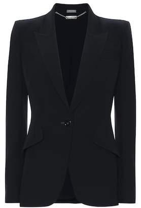 Alexander McQueen Single-breasted crêpe blazer