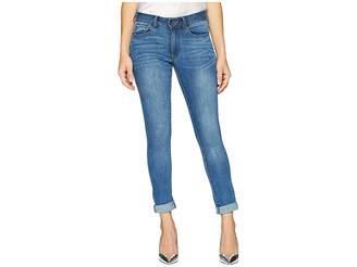 Bebe Heartbreaker Ankle Skinny in Blue Water Women's Jeans