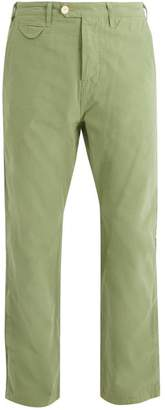 The Lost Explorer - Honey Badger Cotton Chino Trousers - Mens - Green