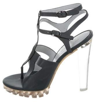 Christopher Kane Leather Cage Sandals