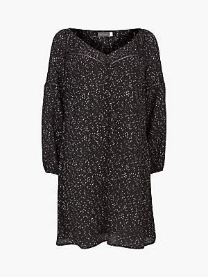 Mint Velvet Black Spot Dress, Multi