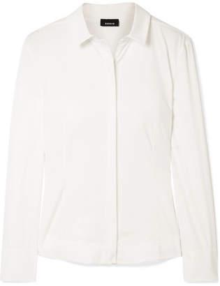 Akris Cotton-blend Poplin Shirt - Off-white