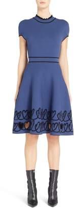 Fendi Cutout Heart Reversible Fit & Flare Dress