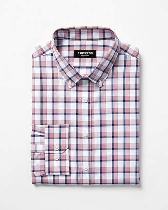 Express Extra Slim Button-Down Wrinkle-Resistant Performance Dress Shirt