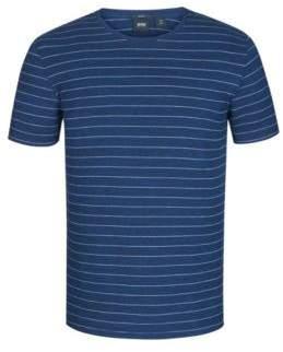 BOSS Hugo Striped Cotton T-Shirt Tessler XXL Dark Blue