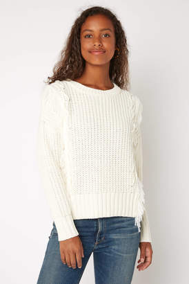 Skies Are Blue Fringe Knit Sweater