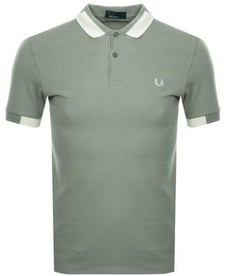 Fred Perry Block Twin Tipped Polo T Shirt Khaki