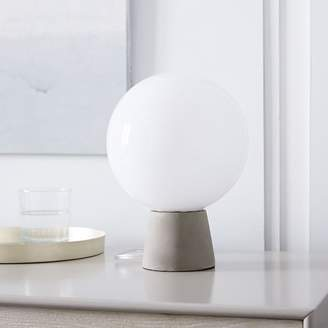 west elm Nova Table Lamp - Concrete