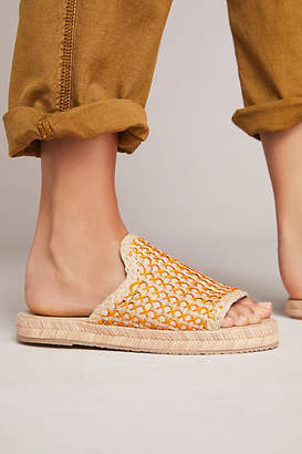 Kaanas Martinique Raffia Slide Sandals
