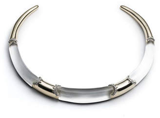 Alexis Bittar 10k Plated Crystal Trim Collar Necklace