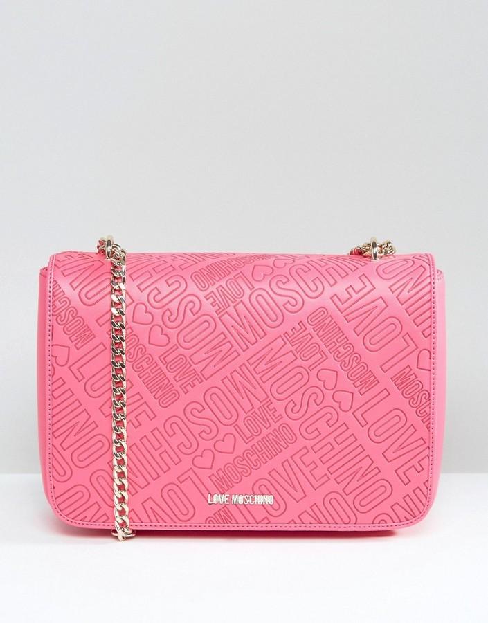 Love MoschinoLove Moschino Logo Stamp Shoulder Bag