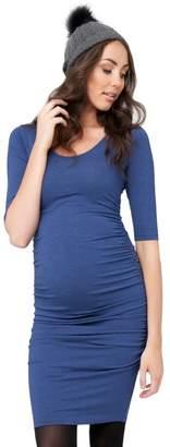 Ripe Maternity Women's Maternity 3/4 Sleeve Marle Cocoon Dress