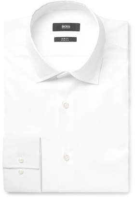 99453f5d06c HUGO BOSS White Jenno Slim-Fit Cotton-Blend Shirt