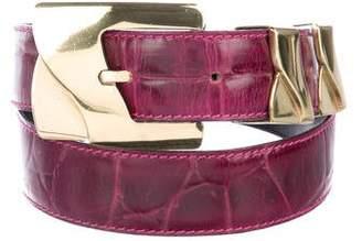 Gianni Versace Vintage Embossed Leather Belt