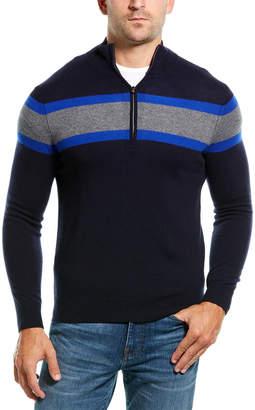 Amicale Cashmere 1/4-Zip Cashmere Sweater