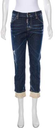 DSQUARED2 Distressed Straight-Leg Jeans w/ Tags