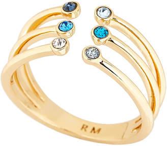 Rebecca Minkoff Gold-Tone Ombre Bubble Claw Ring Size 8