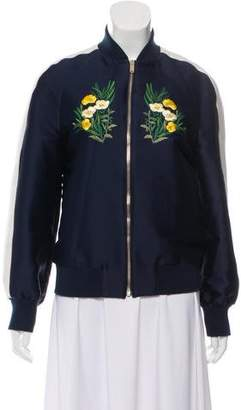 Stella McCartney Embroidered Bomber Jacket
