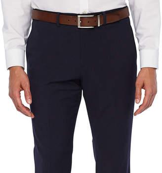 26e108cc3e9253 Jf J.Ferrar 360 Stretch Navy Fine Stripe Slim Fit Suit Pants