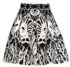 Alexander McQueen Women's Jacquard Knit Mini Skirt