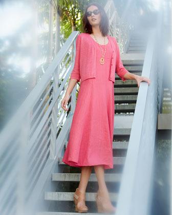 Eileen Fisher Handkerchief Long Linen Dress, Women's