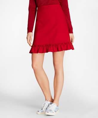 Brooks Brothers Ruffle-Hem Skirt