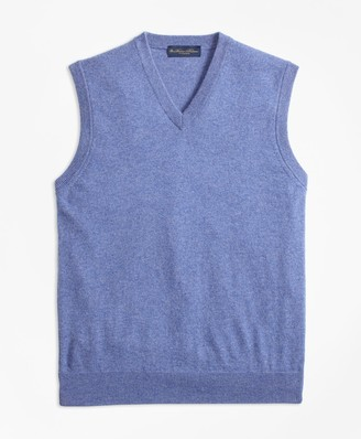 Brooks Brothers V-Neck Cashmere Sweater Vest