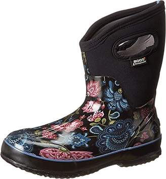 Bogs Women's Classic Mid Winter Blooms Waterproof Insulated Boot