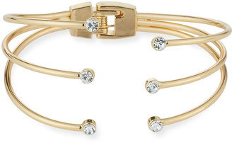 Panacea Triple-Row Hinged Crystal Cuff Bracelet $35 thestylecure.com
