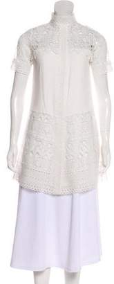 Alexis Short Sleeve Lace Tunic