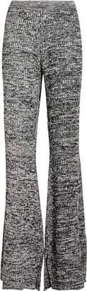 Victoria Victoria Beckham Victoria, Victoria Beckham Flared Ribbed Knit Pants