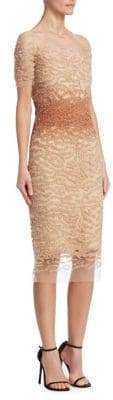 Pamella Roland Ombre Sequin Bodycon Dress