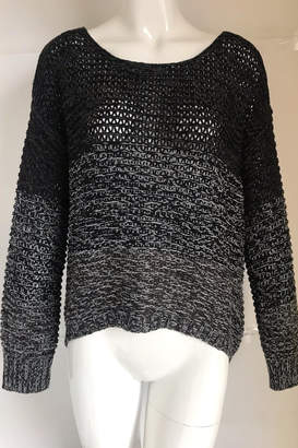 RD Style Charcoal Color-Block Crochet-Sweater