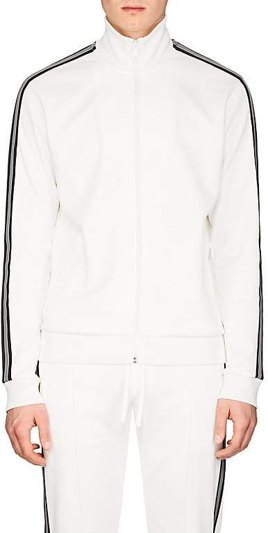 Men's Striped Jersey Track Jacket