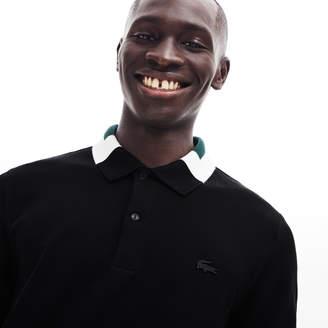 Lacoste Men's Slim Fit Color-Block Collar Cotton Pique Polo
