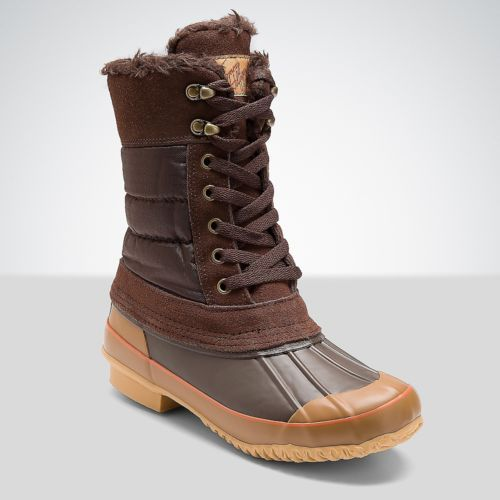 Tommy Hilfiger Solid Lace Up Snow Boot