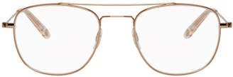 Garrett Leight Rose Gold Club House Glasses