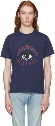 Kenzo Navy Bleached Eye T-Shirt