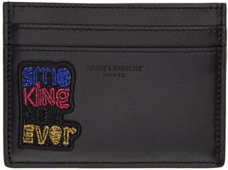 Saint Laurent Black Smoking Forever Card Holder
